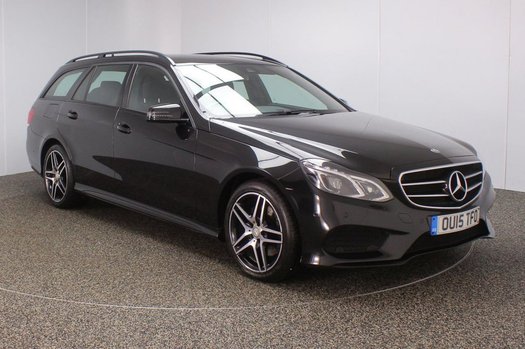 USED 2015 15 MERCEDES-BENZ E CLASS 2.1 E220 BLUETEC AMG NIGHT EDITION 5DR AUTO 174 BHP FULL MERCEDES SERVICE HISTORY + HEATED LEATHER SEATS + SATELLITE NAVIGATION + ACTIVE PARK ASSIST + PARKING SENSOR + BLUETOOTH + CRUISE CONTROL + CLIMATE CONTROL + XENON HEADLIGHTS + ELECTRIC FRONT SEATS + DAB RADIO + ELECTRIC WINDOWS + ELECTRIC/HEATED/FOLDING DOOR MIRRORS + 18 INCH ALLOY WHEELS