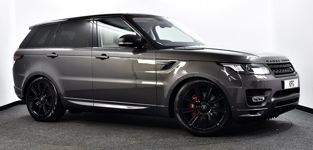 """USED 2017 66 LAND ROVER RANGE ROVER SPORT 4.4 SD V8 Autobiography Dynamic CommandShift 2 4X4 (s/s) 5dr Stealth Pk, Pan Roof, 21""""s, TV"""