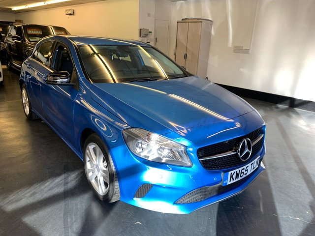 USED 2016 65 MERCEDES-BENZ A CLASS 1.6 A 180 SPORT 5d 121 BHP FULL MAIN DEALER SERVICE HISTORY, REAR CAMERA, FRONT AND REAR PARKING SENSORS, FULL LEATHER SEATS