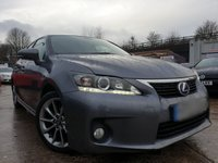 2013 LEXUS CT 1.8 200H ADVANCE 5d 136 BHP £8990.00