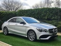 USED 2018 18 MERCEDES-BENZ CLA 2.0 AMG CLA 45 4MATIC 4d 375 BHP A Fantastic 1 Owner, Low Mileage Example with a High Performance 375BHP Turbocharge Engine and the Added Benefit of 4Matic 4 Wheel Drive Technology. This AMG Sport Model is Loaded with High Spec Features and Comes with 18 Inch AMG Spoke Alloy Wheels, Panoramic Sliding Glass Sunroof and Black Leather / Alcantara Sports Interior. Features Include Heated Sports Seats with Contrast Red Stitch, Command Satellite Navigation, Bluetooth Connectivity, Smartphone Integration Package with Apple Car Play...