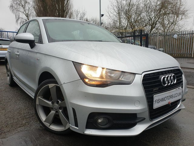 USED 2013 63 AUDI A1 1.6 SPORTBACK TDI S LINE 5d 105 BHP 0 TAX+UPGRADED ALLOYS+HALF LEATHER+SPORTS KIT+PARKING SENSORS+LIGHT AND RAIN SENSORS+CLEAN CAR+SUN BAND WINDOW SCREEN+