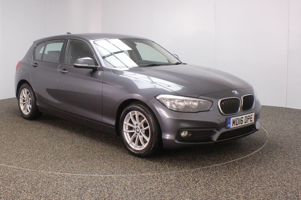 USED 2016 16 BMW 1 SERIES 1.5 116D ED PLUS 5DR 1 OWNER 114 BHP SERVICE HISTORY + FREE 12 MONTHS ROAD TAX + SATELLITE NAVIGATION + PARKING SENSOR + BLUETOOTH + CRUISE CONTROL + CLIMATE CONTROL + MULTI FUNCTION WHEEL + DAB RADIO + ELECTRIC WINDOWS + ELECTRIC MIRRORS + 16 INCH ALLOY WHEELS