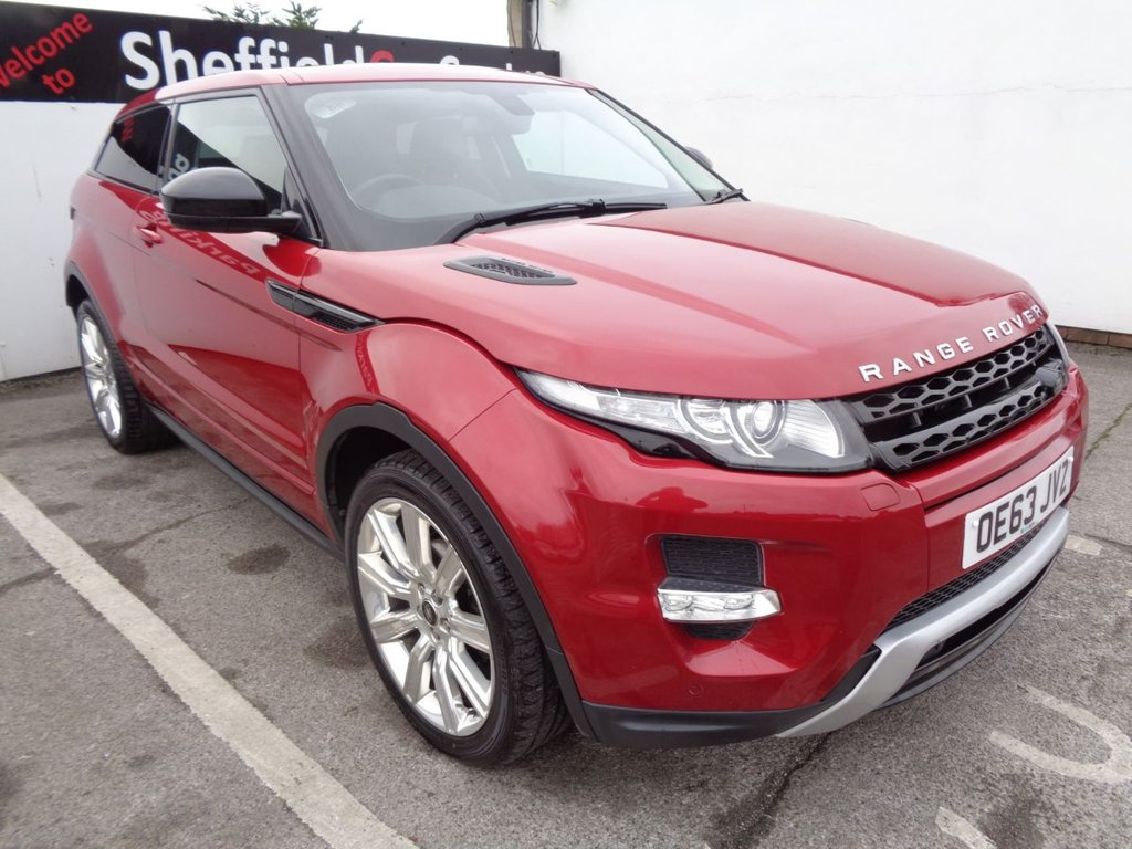 "USED 2014 63 LAND ROVER RANGE ROVER EVOQUE 2.2 SD4 DYNAMIC 3d 190 BHP 4X4 AWD 4WD Satellite navigation bluetooth  half leather parking sensors privacy glass reverse assist camera 20"" alloys full service history"