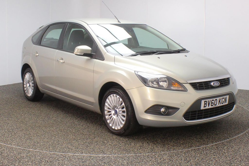 USED 2010 60 FORD FOCUS 1.6 TITANIUM 5DR 100 BHP FULL SERVICE HISTORY + HEATED SEATS + PARKING SENSOR + BLUETOOTH + CRUISE CONTROL + MULTI FUNCTION WHEEL + AIR CONDITIONING + DAB RADIO + ELECTRIC WINDOWS + ELECTRIC MIRRORS + 16 INCH ALLOY WHEELS
