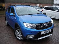USED 2018 18 DACIA SANDERO 0.9 STEPWAY AMBIANCE TCE 5d 90 BHP ANY PART EXCHANGE WELCOME, COUNTRY WIDE DELIVERY ARRANGED, HUGE SPEC