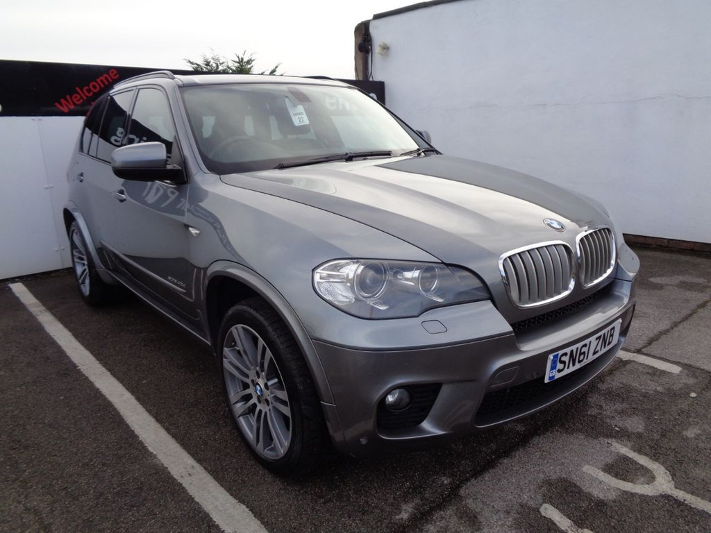 USED 2011 61 BMW X5 3.0 XDRIVE40D M SPORT 5d 302 BHP 4X4 AWD 4WD Satellite navigation  bluetooth  8 main dealer service stamps half leather  heated front seats  parking sensors  privacy glass