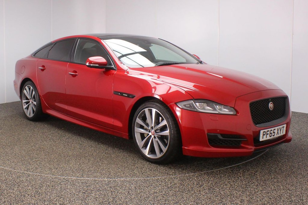 USED 2016 65 JAGUAR XJ 3.0 D V6 R-SPORT 4DR AUTO 296 BHP + PAN ROOF +  FULL SERVICE HISTORY + HEATED/COOLED LEATHER SEATS + SURROUND CAMERA + PARK ASSIST + PANORAMIC ROOF + SATELLITE NAVIGATION + BLUETOOTH + CRUISE CONTROL + CLIMATE CONTROL + MULTI FUNCTION WHEEL + TV RECEIVER + HEATED STEERING WHEEL + HEATED/COOLED REAR SEATS + MERIDIAN PREMIUM SPEAKERS + ELECTRIC/MEMORY FRONT SEATS + XENON HEADLIGHTS + PRIVACY GLASS + DAB RADIO + ELECTRIC WINDOWS + ELECTRIC/HEATED/FOLDING DOOR MIRRORS + 20 INCH ALLOY WHEELS