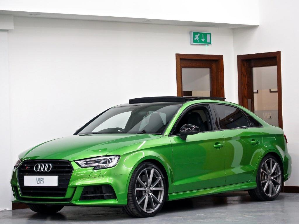 USED 2018 67 AUDI S3 2.0 TFSI Black Edition S Tronic quattro (s/s) 4dr PAN ROOF +V/ COCKPIT+ SS SEATS