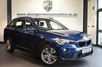 """USED 2016 16 BMW X1 2.0 XDRIVE18D SPORT 5DR 148 BHP  Finished in a stunning mediterranean metallic blue styled with 18"""" alloys. Upon entry you are presented with anthracite upholstery, full bmw service history, satellite navigation, bluetooth, heated sport seats, DAB radio, Multifunction steering wheel, automatic boot lid, Performance Control, Automatic air conditioning, parking sensors"""