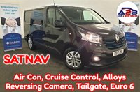 2017 RENAULT TRAFIC  1.6 DCI SPORT NAV ENERGY 125 BHP in Black with Tailgate, SATNAV, Reversing Camera, Air Conditioning, Cruise Control, Bluetooth, DAB Radio and more £11980.00