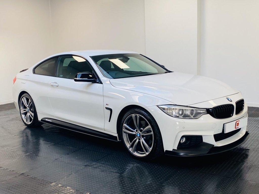 USED 2013 63 BMW 4 SERIES 2.0 420D M SPORT 2d 181 BHP 19 INCH ALLOYS + 440 TWIN EXHAUST + M SPORT PERFORMANCE PACK + SAT NAV