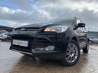 USED 2013 63 FORD KUGA 2.0 TITANIUM TDCI 2WD 5d 138 BHP HALFLEATHER+PRIVGLASS+17ALLOY+AIRCON+CLIMATE+PARKING+MEDIA+ELECS+