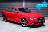 USED 2013 63 AUDI A4 2.0 TDI BLACK EDITION *£30 ROAD TAX* ** XENON HEADLIGHTS, BANG + OLUFSEN SOUND SYSTEM **