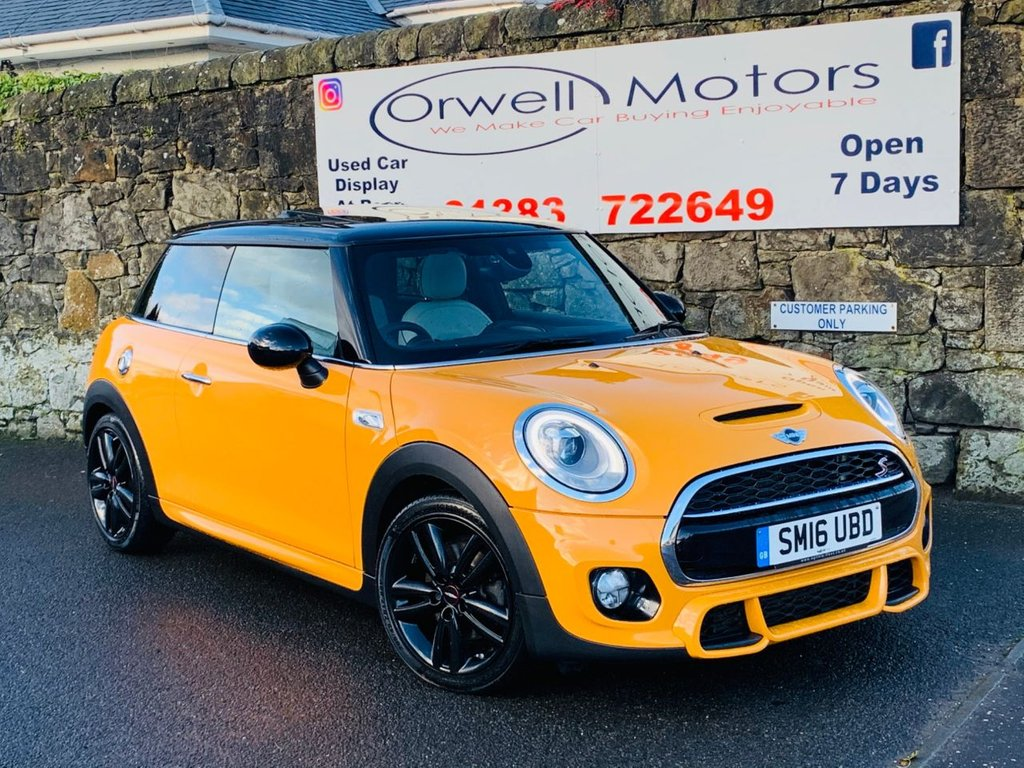 USED 2016 16 MINI HATCH COOPER 2.0 COOPER SD 3d 168 BHP JOHN COOPER WORKS KIT+SATELLITE GREY LEATHER+PANORAMIC ELECTRIC ROOF+CRUISE CONTROL