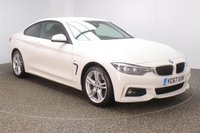 USED 2017 67 BMW 4 SERIES 2.0 420D XDRIVE M SPORT 2DR AUTO 188 BHP + PRO SAT NAV + FULL BLACK LEATHER +FULL SERVICE HISTORY FULL SERVICE HISTORY + HEATED LEATHER SEATS + SATELLITE NAVIGATION + PARK ASSIST + REVERSE CAMERA + PARKING SENSOR + BLUETOOTH + CRUISE CONTROL + CLIMATE CONTROL + MULTI FUNCTION WHEEL + ELECTRIC/MEMORY SEATS + PRIVACY GLASS + XENON HEADLIGHTS + DAB RADIO + ELECTRIC WINDOWS + ELECTRIC/HEATED/FOLDING DOOR MIRRORS + 18 INCH ALLOY WHEELS