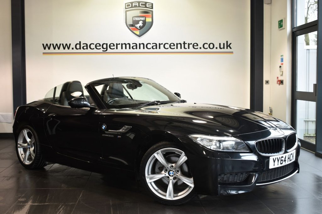USED 2014 64 BMW Z4 2.0 Z4 SDRIVE20I M SPORT ROADSTER 2DR 181 BHP Finished in a stunning sapphire metallic black styled with alloys. Upon opening the drivers door you are presented with full black leather interior, full service history, bluetooth, heated sport seats, DAB radio, Multifunction steering wheel, Automatic air conditioning, Headlight cleaning system, rain sensors, M Sports package