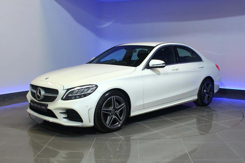 USED 2019 19 MERCEDES-BENZ C-CLASS 1.5 C200 EQ Boost AMG Line G-Tronic+ (s/s) 4dr SAT NAV REAR CAM HEATED SEATS