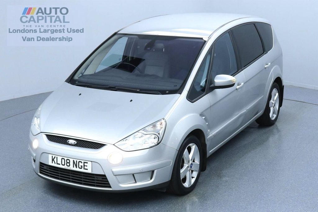 USED 2008 08 FORD S-MAX 2.0 TITANIUM TDCI 140 BHP AIR  CON AUTO 7 SEATS LEATHER SEATS | PARKING SENSORS | ALLOY WHEELS