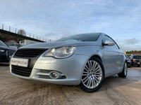 USED 2006 56 VOLKSWAGEN EOS 2.0 SPORT TSI 2d 198BHP LEATHER+HEATED+ALLOYS+MEDIA+BLUE+PHONE+CLIMATE+CRUISE+MEDIA+