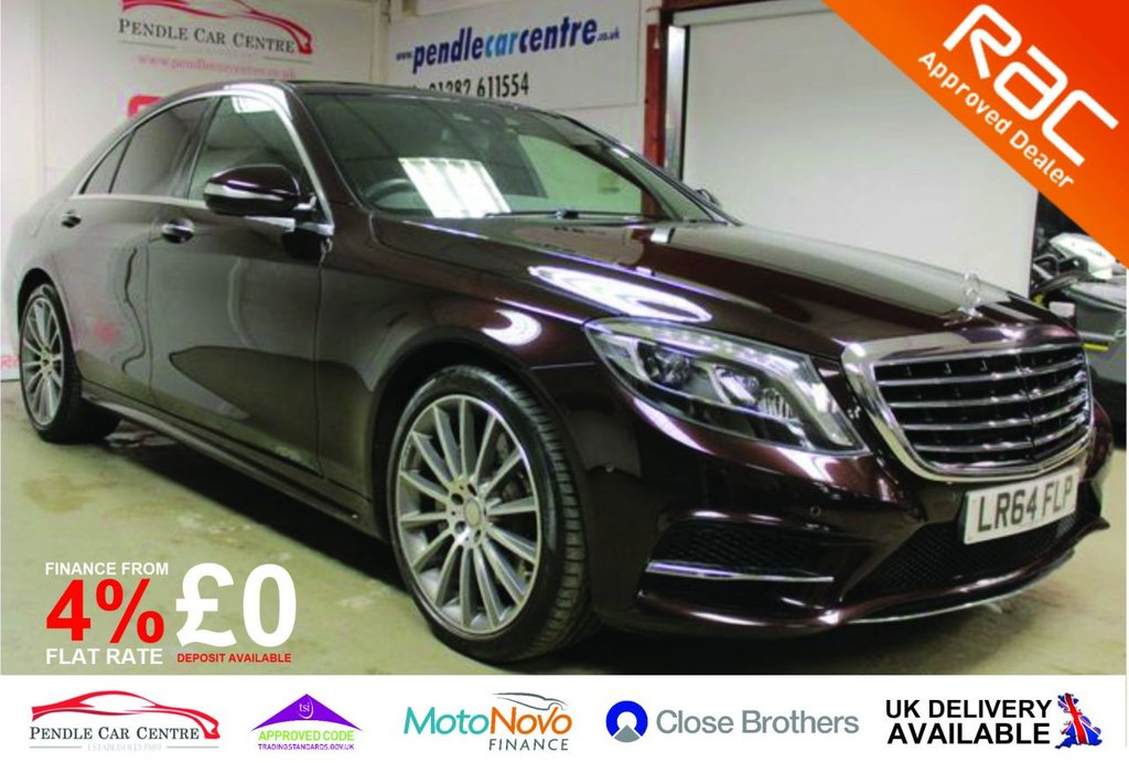 USED 2015 64 MERCEDES-BENZ S-CLASS 3.0 S350 BLUETEC AMG LINE 4d 258 BHP Over £14000 Of Factory Extras / Absolute Bargain / RAC Approved / RAC Platinum Warranty Included / 4% £0 Deposit Finance Available