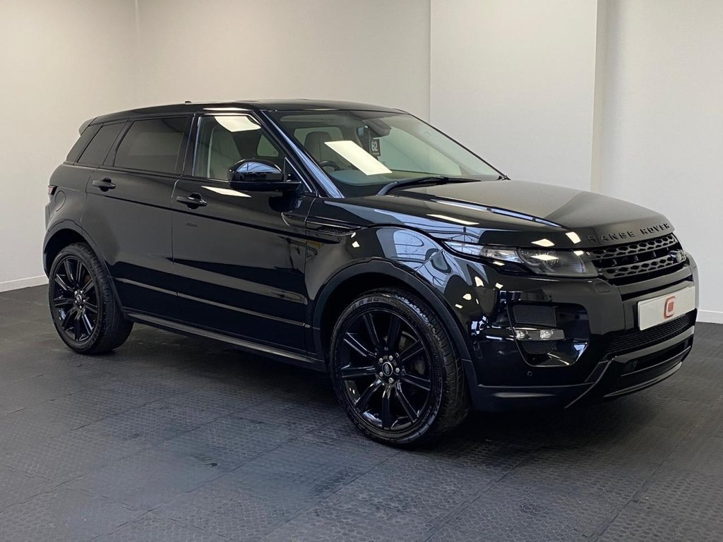 USED 2014 64 LAND ROVER RANGE ROVER EVOQUE 2.2 SD4 DYNAMIC 5d 190 BHP LUX PACK + SPORTS CREAM LEATHER + ONLY 22K MILES + SAT NAV + 20 INCH ALLOYS