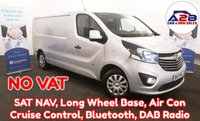 2017 VAUXHALL VIVARO  1.6 CDTI 2900 SPORTIVE 120 BHP LONG WHEEL BASE in Silver with NO VAT TO PAY, SATNAV, Air Conditioning, Bluetooth, Cruise Control, Rear Parking Sensors and more £13680.00