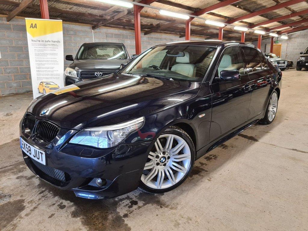 "USED 2008 58 BMW 5 SERIES 550i M SPORT +++F/S/H, NAV, 19""S+++"