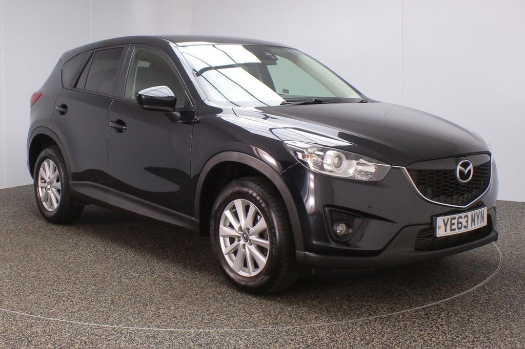 USED 2013 63 MAZDA CX-5 2.2 D SE-L NAV 5DR 148 BHP SERVICE HISTORY + SATELLITE NAVIGATION + PARKING SENSOR + BLUETOOTH + CRUISE CONTROL + CLIMATE CONTROL + MULTI FUNCTION WHEEL + PRIVACY GLASS  + DAB RADIO + ELECTRIC WINDOWS + RADIO/CD/AUX/USB + ELECTRIC/HEATED/FOLDING DOOR MIRRORS + 17 INCH ALLOY WHEELS