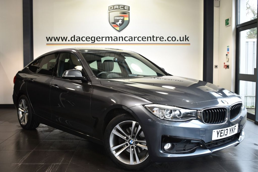 "USED 2013 13 BMW 3 SERIES GRAN TURISMO 2.0 320D SPORT GRAN TURISMO 5DR AUTO 181 BHP Finished in a stunning mineral metallic grey styled with 18"" alloys. Upon opening the drivers door you are presented with full leather interior, full service history, bluetooth, heated sport seats, reversing camera, DAB radio, cruise control, Headlight cleaning system, xenon lights, Automatic air conditioning, rain sensors, light package, parking sensors"