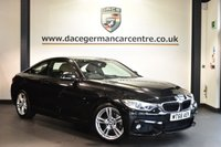 """USED 2016 66 BMW 4 SERIES 2.0 420I M SPORT 2DR 181 BHP Finished in a stunning sapphire metallic black styled with 18"""" alloys. Upon opening the drivers door you are presented with full leather interior, full service history, pro satellite navigation, bluetooth, xenon light, heated sport seats, cruise control, Automatic air conditioning, Light package, DAB radio, Interior mirror with automatic-dip, Connected Drive Services, parking sensors"""