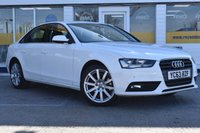 USED 2013 63 AUDI A4 2.0 TDI SE TECHNIK 4d 148 BHP CAR FINANCE APPROVAL IN UNDER A MIN