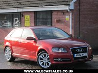 USED 2012 12 AUDI A3 2.0 TDI SPORT (GREAT COLOUR) 3dr GREAT COLOUR - BLUETOOTH - £30 A YEAR TAX