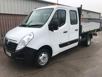 USED 2015 65 VAUXHALL MOVANO 2.3 CDTI 125PS R3500 L3H1 D/CAB TIPPER **VERY LOW MILES**