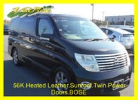 USED 2007 56 NISSAN ELGRAND 3.5 Highway Star Black Leather Edition 56k Nissan Elgrand Highway Star 3.5 V6 Automatic Twin Power Doors Full Black Heated Leather Seats, Bose Sound System