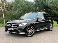 """USED 2015 65 MERCEDES-BENZ GLC-CLASS 2.1 GLC 220 D 4MATIC AMG LINE 5d 168 BHP GREAT LOOKING 1 OWNER AMG LINE GLC WITH ONLY 27000 MILES FSH WITH NAV 20"""" ALLOYS SIDE STEPS IN BLACK WITH BLACK LEATHER ARTICO"""