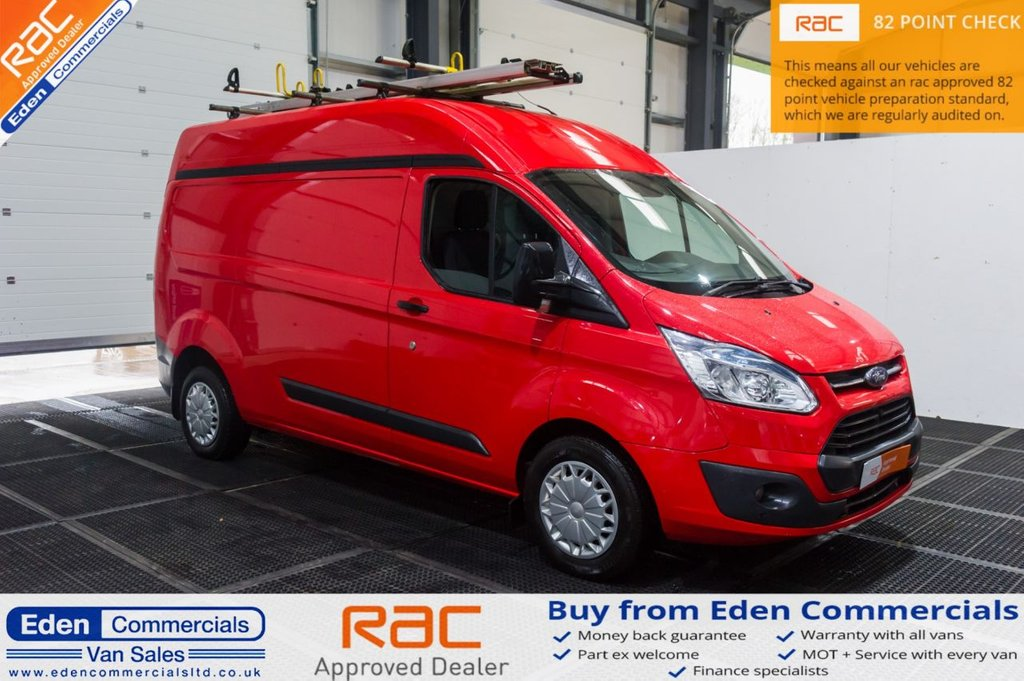 USED 2014 64 FORD TRANSIT CUSTOM 2.2 330 TREND 124 BHP * HIGH ROOF FINISHED IN RACE RED *