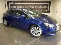 USED 2014 63 VAUXHALL ASTRA GTC 1.4 GTC SRI S/S 3d 138 BHP + PRIVACY GLASS + EXTRAS