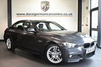 """USED 2015 15 BMW 3 SERIES 3.0 330D M SPORT AUTO 4DR 258 BHP Finished in a stunning mineral metallic grey styled with 18"""" alloys. Upon opening the drivers door you are presented with full leather interior, full service history, satellite navigation, bluetooth, sport seats, cruise control, DAB radio, Automatic air conditioning, rain sensors, light package, Multifunction steering wheel, Interior mirror with automatic-dip, parking sensors"""
