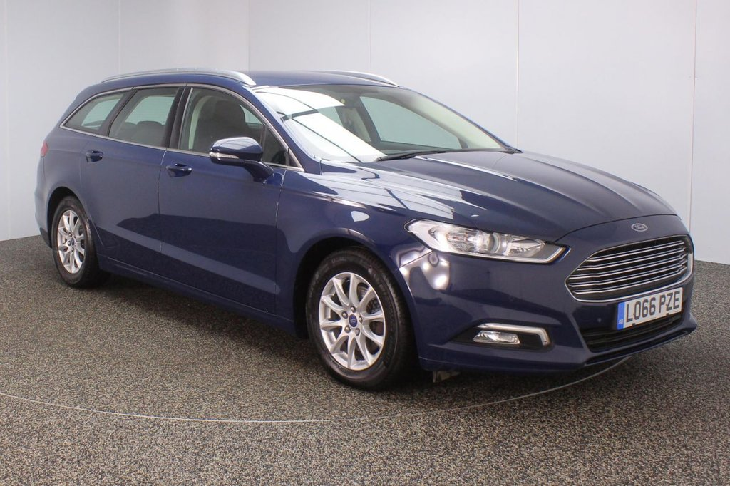 USED 2017 66 FORD MONDEO 2.0 ZETEC ECONETIC TDCI 5DR 1 OWNER 148 BHP SERVICE HISTORY + £20 12 MONTHS ROAD TAX + SATELLITE NAVIGATION + PARKING SENSOR + BLUETOOTH + CRUISE CONTROL + CLIMATE CONTROL + MULTI FUNCTION WHEEL + XENON HEADLIGHTS + DAB RADIO + ELECTRIC WINDOWS + ELECTRIC/HEATED DOOR MIRRORS + 16 INCH ALLOY WHEELS
