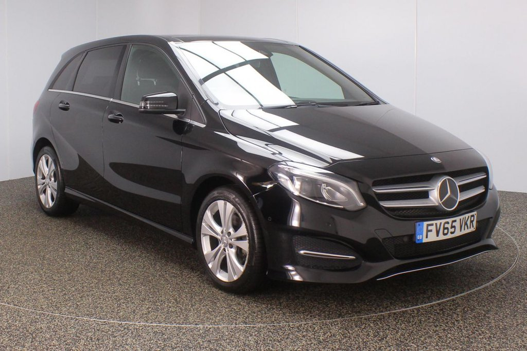 USED 2016 65 MERCEDES-BENZ B CLASS 2.1 B 200 D SPORT PREMIUM PLUS 5DR AUTO 1 OWNER 134 BHP FULL SERVICE HISTORY + £20 12 MONTHS ROAD TAX + HEATED LEATHER SEATS + SATELLITE NAVIGATION + REVERSE CAMERA + PANORAMIC ROOF + ACTIVE PARK ASSIST + BLUETOOTH + CRUISE CONTROL + CLIMATE CONTROL + MULTI FUNCTION WHEEL + XENON HEADLIGHTS + PRIVACY GLASS + ELECTRIC/MEMORY SEATS + PRIVACY GLASS + ELECTRIC WINDOWS + ELECTRIC/HEATED/FOLDING DOOR MIRRORS + 17 INCH ALLOY WHEELS