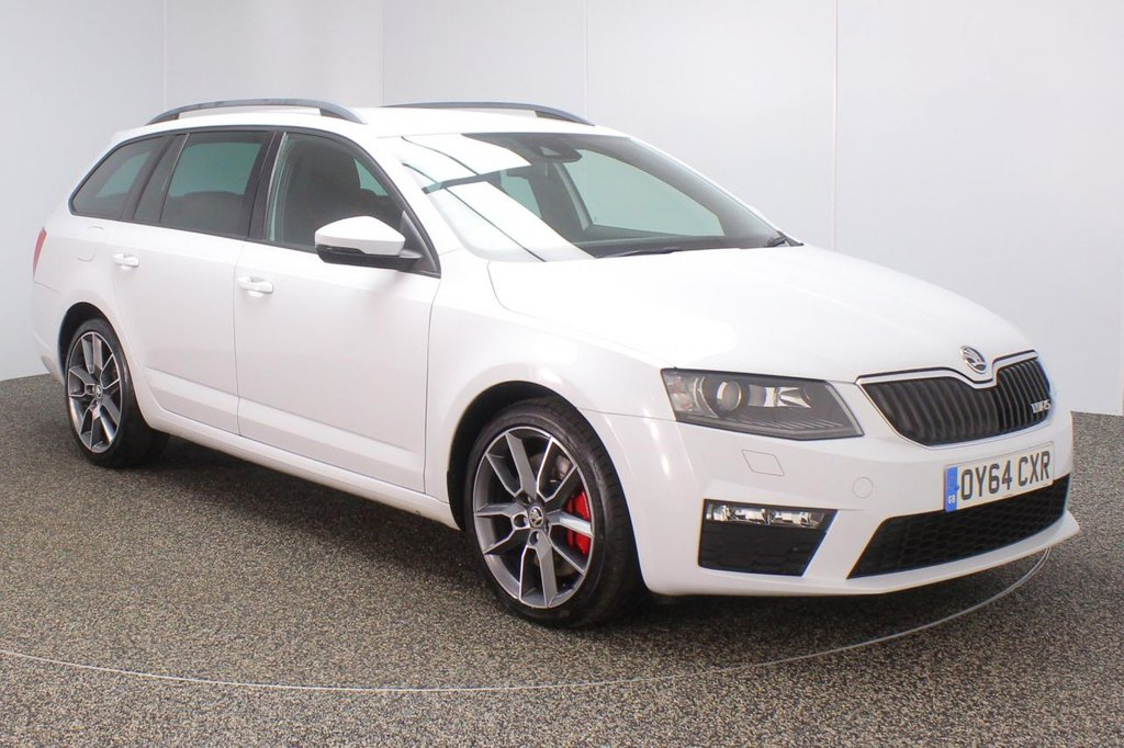 USED 2014 64 SKODA OCTAVIA 2.0 VRS TDI CR 5DR 181 BHP + 1 OWNER FULL SERVICE HISTORY + £30 12 MONTHS ROAD TAX + HALF LEATHER SEATS + PARKING SENSOR + BLUETOOTH + CRUISE CONTROL + CLIMATE CONTROL + MULTI FUNCTION WHEEL + DAB RADIO + PRIVACY GLASS + XENON HEADLIGHTS + ELECTRIC WINDOWS + ELECTRIC/HEATED DOOR MIRRORS + 18 INCH ALLOY WHEELS