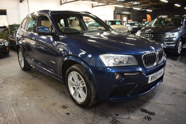 USED 2013 13 BMW X3 2.0 XDRIVE20D M SPORT 5d 181 BHP AUTO  LOVELY CONDITION - LOW MILES - BMW HISTORY TO 49K - TAN LEATHER - 4X4 - AUTO - CRUISE - M SPORT