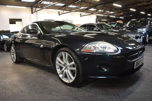 USED 2007 07 JAGUAR XK 4.2 COUPE 2d 294 BHP JUST A STUNNING CAR - 12 JAGUAR STAMPS TO 63K - SENTA 20 INCH ALLOYS - IVORY LEATHER - KEYLESS ENTRY - FUTURE MODERN CLASSIC