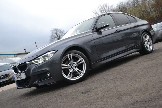 USED 2016 16 BMW 3 SERIES 2.0 318D M SPORT 4d 148 BHP HEATED BLACK LEATHER ~ HEATED STEERING WHEEL ~ SAT NAV ~ PARK SENSORS