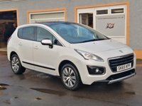 """USED 2015 65 PEUGEOT 3008 1.6 HDI ACTIVE 5d 115 BHP Pearlescent White Paint, 17"""" Alloys, Panoramic Glass Roof, Parking sensors, Bluetooth, Cruise Control"""