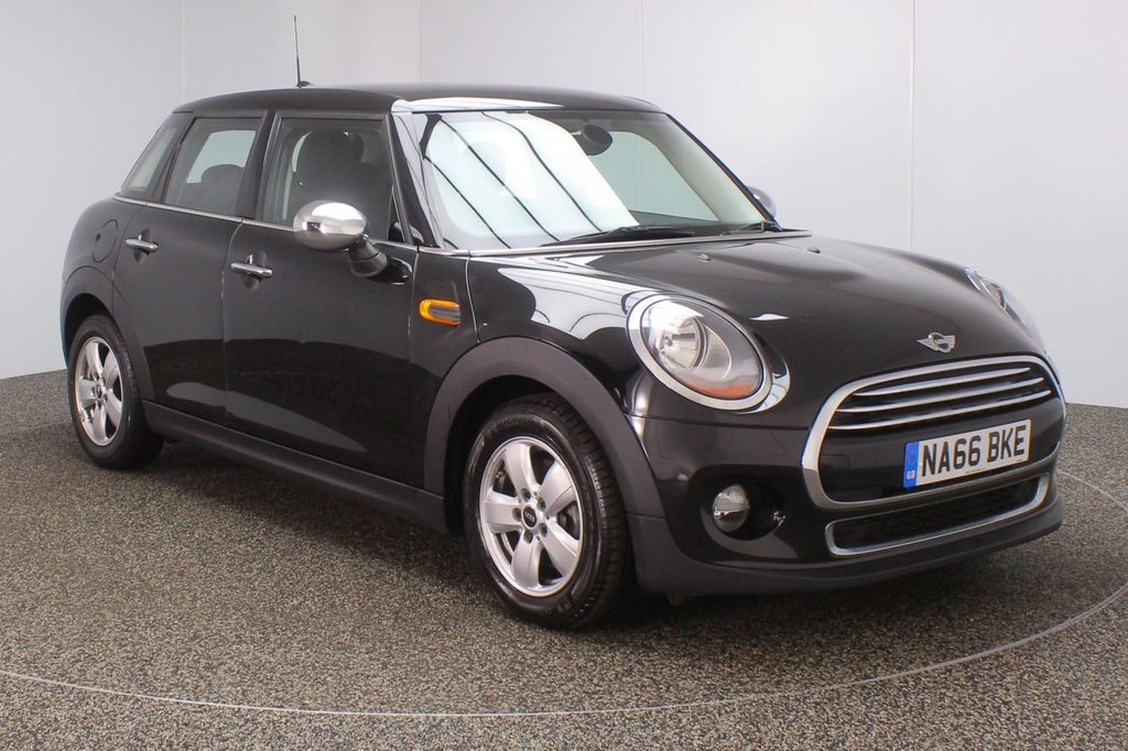 USED 2016 66 MINI HATCH COOPER 1.5 COOPER 5DR 1 OWNER 134 BHP FULL MINI SERVICE HISTORY + £20 12 MONTHS ROAD TAX + BLUETOOTH + AIR CONDITIONING + DAB RADIO + ELECTRIC WINDOWS + ELECTRIC MIRRORS + 15 INCH ALLOY WHEELS
