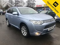 2015 MITSUBISHI OUTLANDER 2.0 PHEV GX 4H 5d 162 BHP IN METALLIC BLUE WITH SAT NAV AND A FULL SERVICE HISTORY AND ONLY 67,000 IN IMMACULATE CONDITION. £13999.00