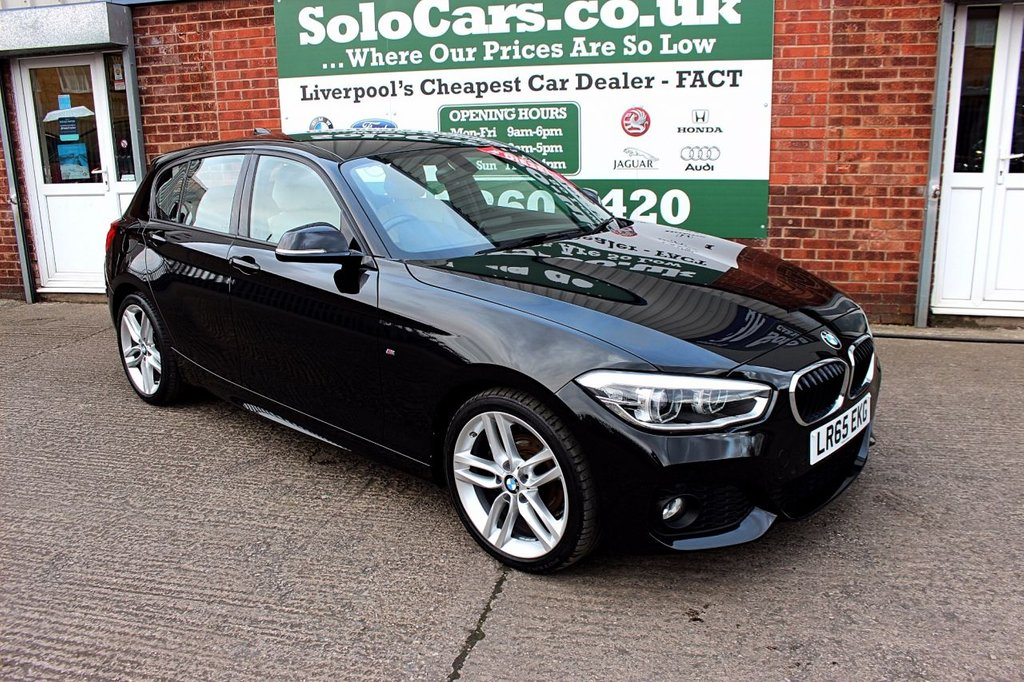 USED 2015 65 BMW 1 SERIES 1.5 116D M SPORT 5d 114 BHP +ONE OWNER +LEATHER +SAT NAV.