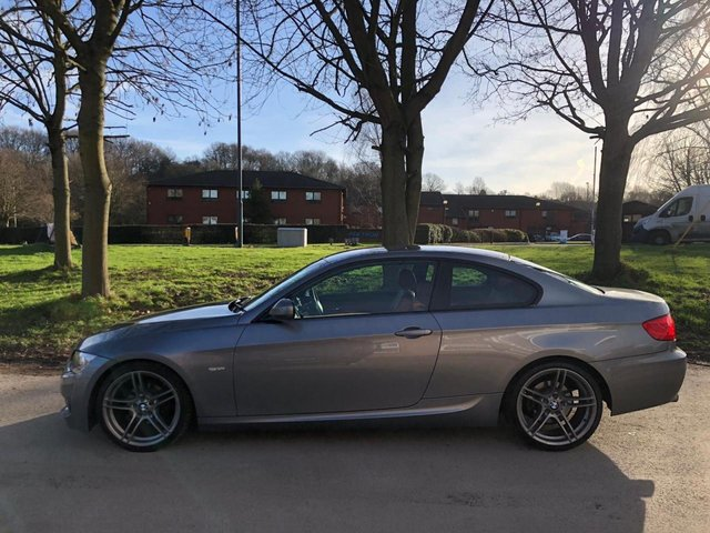 USED 2010 10 BMW 3 SERIES 2.0 320I M SPORT 2d 168 BHP COUPE FULL RED LEATHER ALLOY WHEELS, RED LEATHER SEATS, STOP/START, RADIO/CD, MULTI FUNCTION STEERING WHEEL
